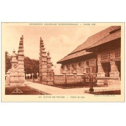 carte postale ancienne EXPOSITION COLONIALE INTERNATIONALE PARIS 1931. Pays-Bas Porte Bali
