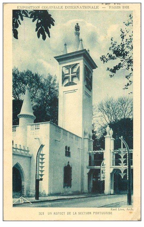 carte postale ancienne EXPOSITION COLONIALE INTERNATIONALE PARIS 1931. Portugal Section Portugaise