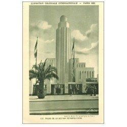 carte postale ancienne EXPOSITION COLONIALE INTERNATIONALE PARIS 1931. Section Métropolitaine