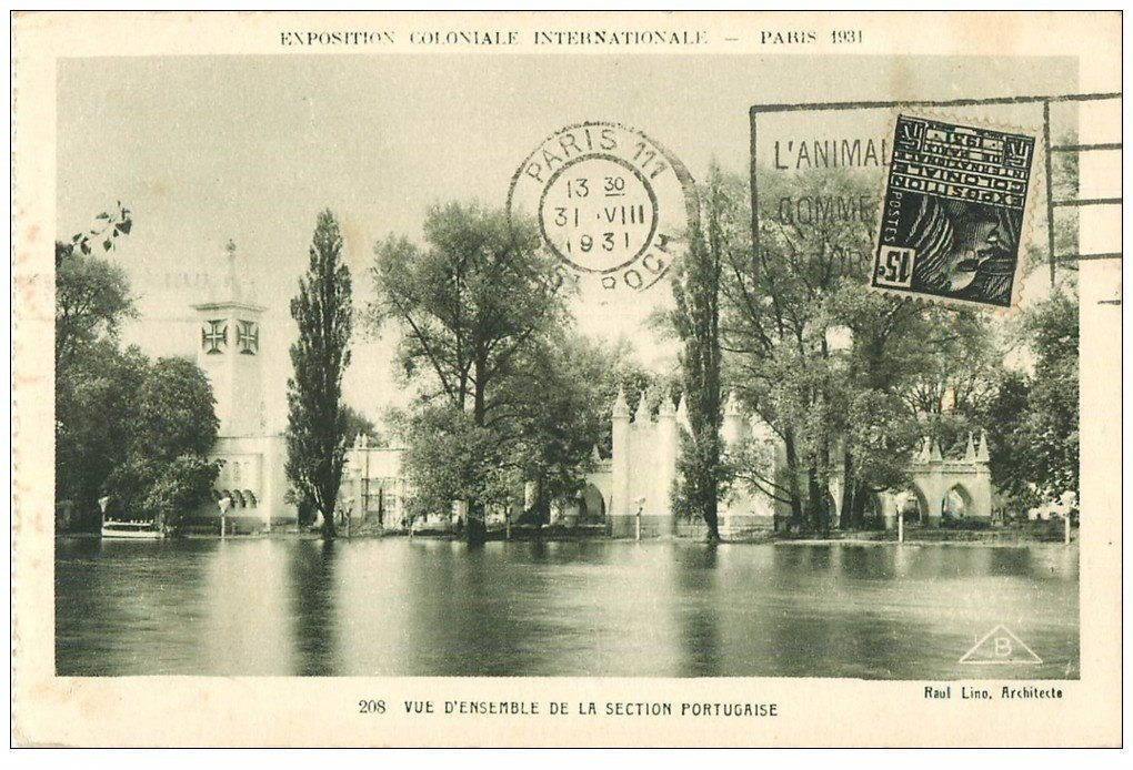 carte postale ancienne EXPOSITION COLONIALE INTERNATIONALE PARIS 1931. Section Portugaise 208