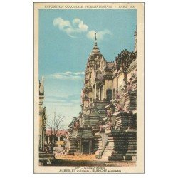 carte postale ancienne EXPOSITION COLONIALE INTERNATIONALE PARIS 1931. Temple Angkor
