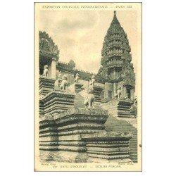 carte postale ancienne EXPOSITION COLONIALE INTERNATIONALE PARIS 1931. Temple Angkor-Vat 130