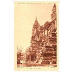 carte postale ancienne EXPOSITION COLONIALE INTERNATIONALE PARIS 1931. Temple Angkor-Vat 25
