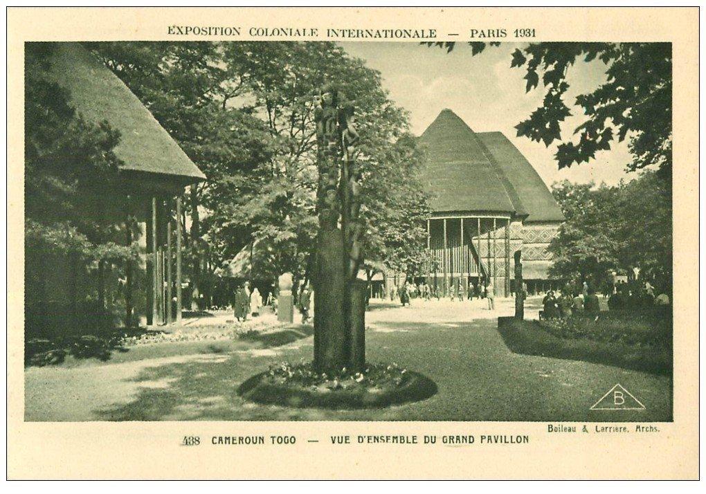carte postale ancienne EXPOSITION COLONIALE INTERNATIONALE PARIS 1931. Togo Cameroun 438