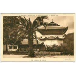 carte postale ancienne EXPOSITION COLONIALE INTERNATIONALE PARIS 1931. Tonkin