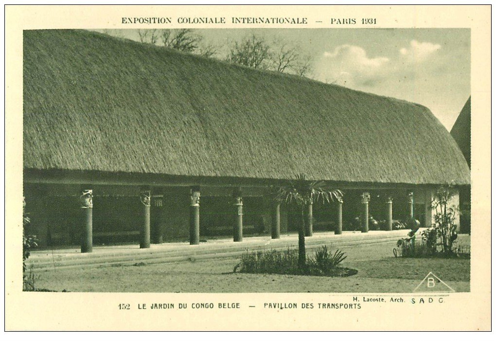 carte postale ancienne EXPOSITION COLONIALE INTERNATIONALE PARIS 1931. Transports Congo Belge