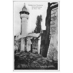 carte postale ancienne EXPOSITION COLONIALE INTERNATIONALE PARIS 1931. Tunisie Fort Espagnol