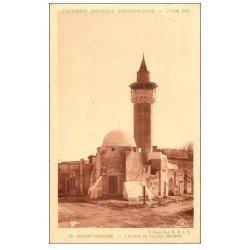 carte postale ancienne EXPOSITION COLONIALE INTERNATIONALE PARIS 1931. Tunisie Village Indigène