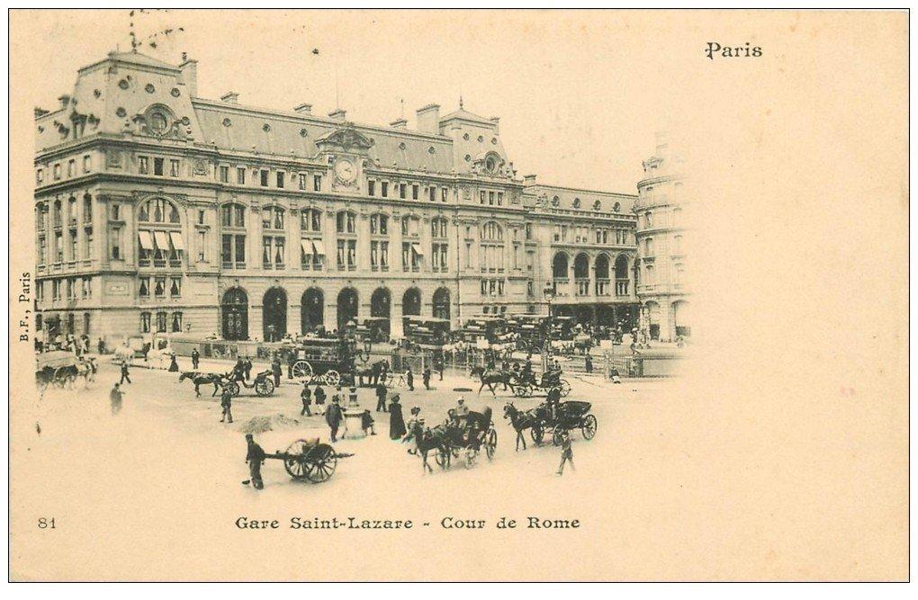 1899 paris 08 gare saint lazare cours de rome timbre 10 centimes 1899. Black Bedroom Furniture Sets. Home Design Ideas