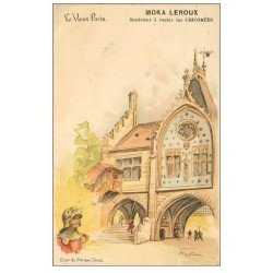 carte postale ancienne LE VIEUX PARIS. Cour du Pré aux Clercs. Moka Leroux