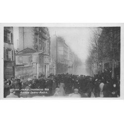 carte postale ancienne INONDATION DE PARIS 1910. Avenue Ledru Rollin