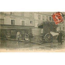 INONDATION DE PARIS 1910. Déménagement Quai de Billy Bière de la Comète