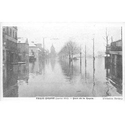 INONDATION DE PARIS 1910. Quai de la Rapée. Collection Taride