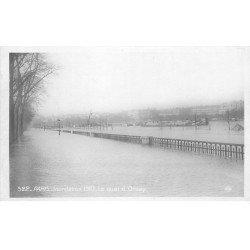 carte postale ancienne INONDATION DE PARIS 1910. Quay d'Orsay. Edition Rose