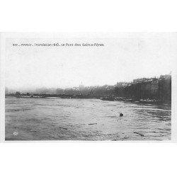 carte postale ancienne INONDATION DE PARIS 1910. Pont Saints-Pères. Edition Rose
