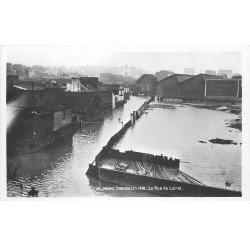 carte postale ancienne INONDATION DE PARIS 1910. Rue du Loiret. Edition Rose