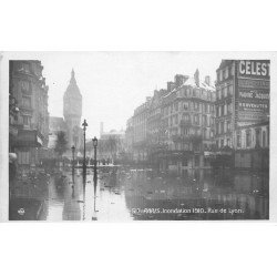 1910 INONDATION DE PARIS 12. Rue de Lyon. Edition Rose