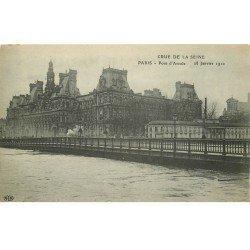 INONDATION DE PARIS 1910. Pont d'Arcole