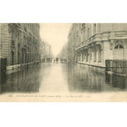 carte postale ancienne INONDATION DE PARIS 1910. Rue de Lille