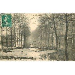 INONDATION DE PARIS 1910. Quai Debilly