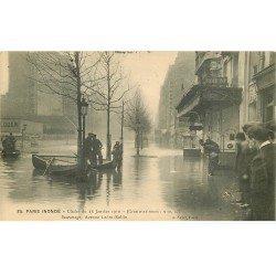 1910 INONDATION ET CRUE DE PARIS 12. Avenue Ledru Rollin sauvetage
