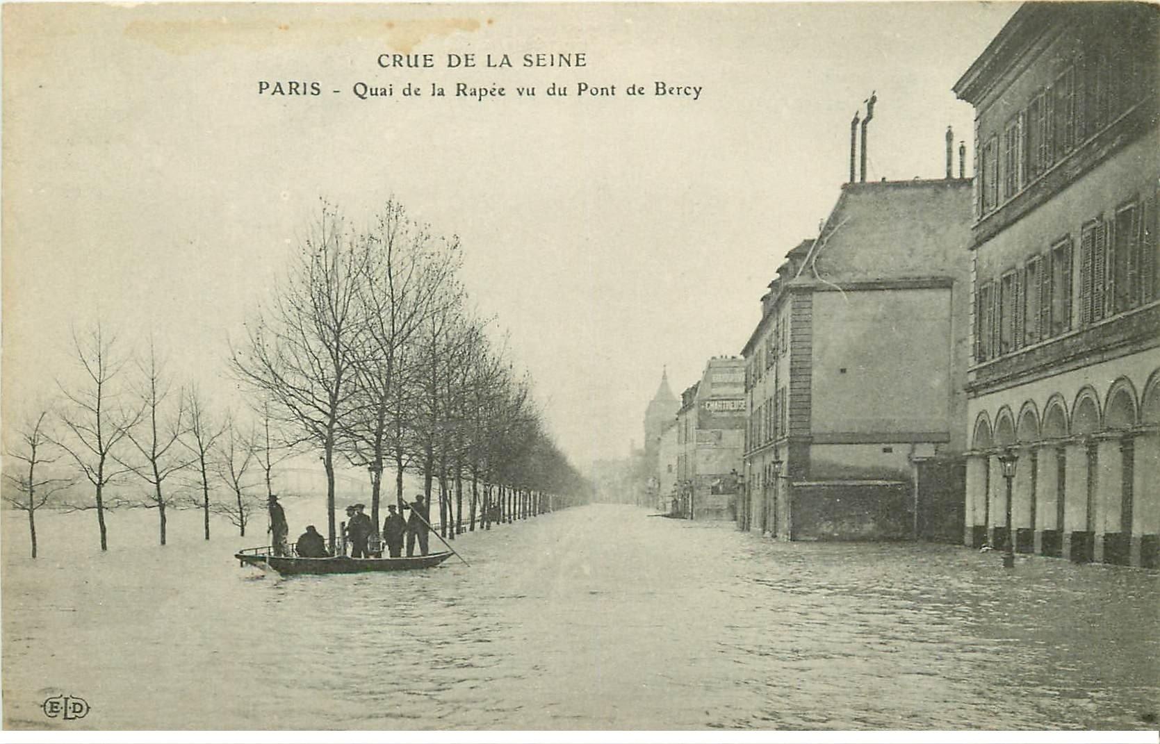 INONDATION ET CRUE DE PARIS 1910. Quai de la Rapée