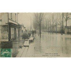 Inondations et Crue de 1910. SAINT-DENIS 93. Rue de la Briche