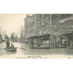 Inondations et Crue de 1910. VILLENEUVE-SAINT-GEORGES 94. Place de la Gare