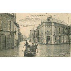 Inondation et Crue de 1910. SENS 89. Rue Saint-Bond (Emile Zola) Bureau Octroi