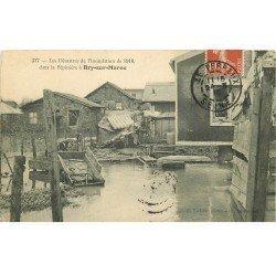 carte postale ancienne Inondation et Crue de 1910. BRY-SUR-MARNE 94. La Pépinière