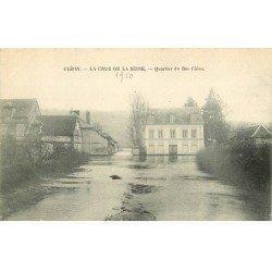 Inondationset Crue de 1910. CLEON 76. Quartier du Bas Cléon