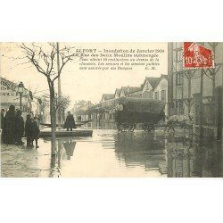 Inondations et Crue de 1910. ALFORT 94. Rue des Deux Moulins