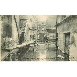 carte postale ancienne Inondation et Crue de 1910. ROUEN 76. Rue de Fontenay