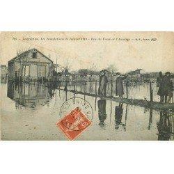 carte postale ancienne Inondation et Crue de 1910. ASNIERES 92. Rue du Fossé l'Aumône