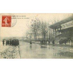 carte postale ancienne Inondation et Crue de 1910. COLOMBES 92. Champ de Courses Hippodrome