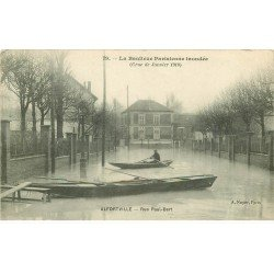 carte postale ancienne Inondation et Crue de 1910. ALFORVILLE 94. Rue Paul Bert