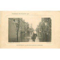 Inondation et Crue de 1910. ALFORTVILLE 94. Rue Véron