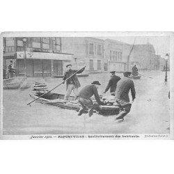 carte postale ancienne Inondation et Crue de 1910. ALFORVILLE 94. Ravitaillement des habitants