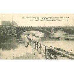 Inondation et Crue de 1910. ALFORT ALFORVILLE 94. Quai de la Marne
