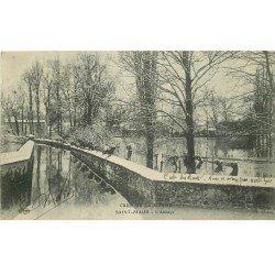 carte postale ancienne Inondation et Crue de 1910. SAINT-MAUR 94. L'Abbaye