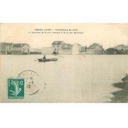 carte postale ancienne Inondation et Crue de 1910. CHOISY-LE-ROI 94. Quartier Rue Durand et Morblant