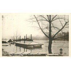 INONDATION ET CRUE PARIS 1910. Port Saint-Nicolas
