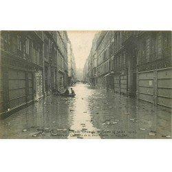 INONDATION ET CRUE PARIS 1910. Quartiers Rive Gauche avec Banque Société Générale