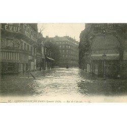 carte postale ancienne INONDATION ET CRUE PARIS 1910. Rue de l'Arcade 57