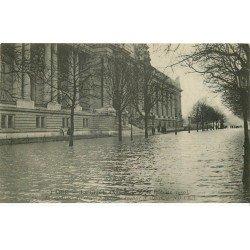carte postale ancienne INONDATION ET CRUE PARIS 1910. Grand Palais Avenue d'Antin