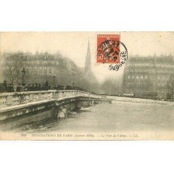carte postale ancienne INONDATION ET CRUE PARIS 1910. Pont Alma