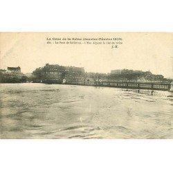 INONDATION ET CRUE PARIS 1910. Pont Solférino