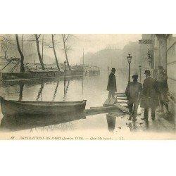 INONDATION ET CRUE PARIS 1910. Quai Malaquais Laperouse