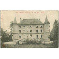 carte postale ancienne 10 VENDEUVRE. Le Château 1916 animation