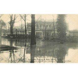 carte postale ancienne INONDATION ET CRUE PARIS 1910. Restaurant Ledoyen Avenue Champs-Elysées